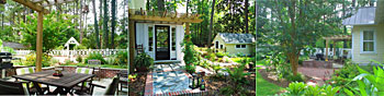 3 views of the Peele residences in Southern Pines North Carolina